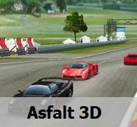 �ki Ki�ilik 3 Boyutlu Araba Yar���: Asfalt 3D